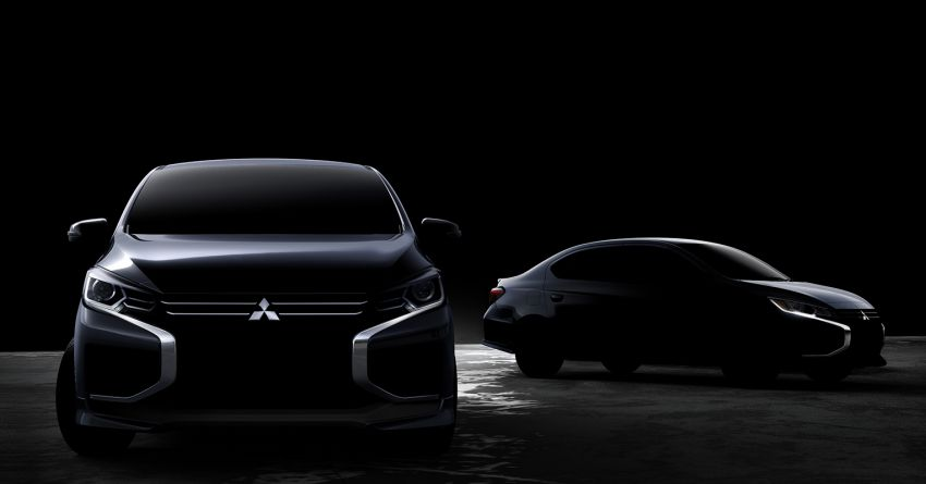 Mitsubishi Teases New Mirage & Attrage Ahead of Debut 7