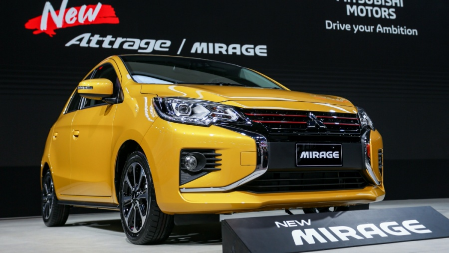 New Mitsubishi Mirage and Attrage Displayed at 2019 Thai Motor Expo 1