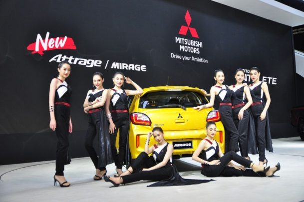 New Mitsubishi Mirage and Attrage Displayed at 2019 Thai Motor Expo 3