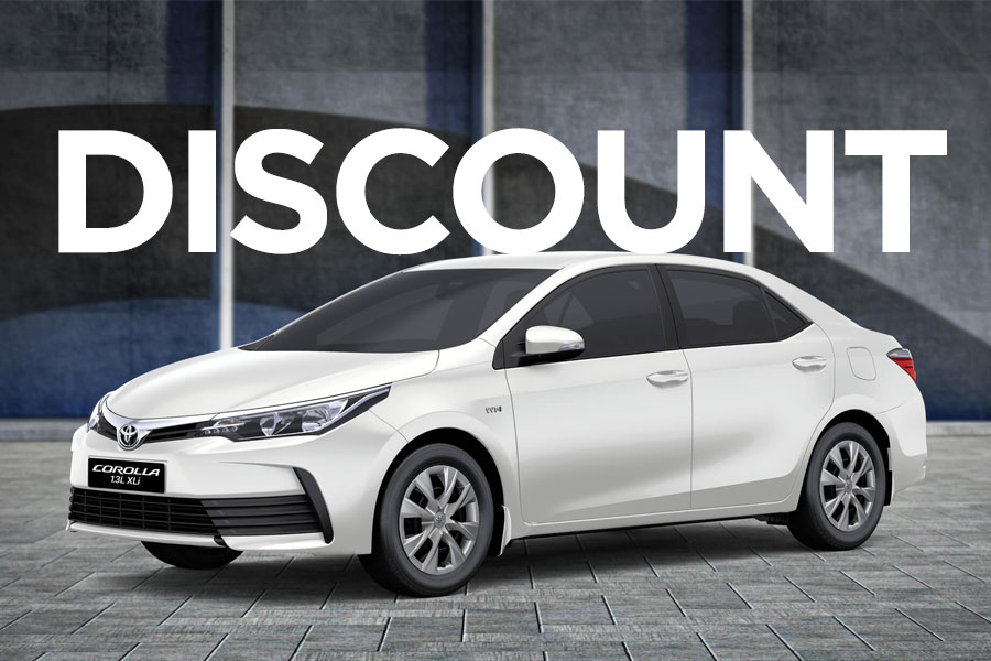 IMC Offering Huge Discounts on Toyota Corolla XLi 2