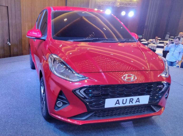 Hyundai's Newest Aura Subcompact Sedan Debuts in India 1