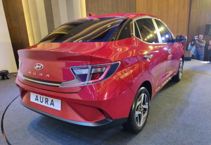 Hyundai's Newest Aura Subcompact Sedan Debuts in India 3