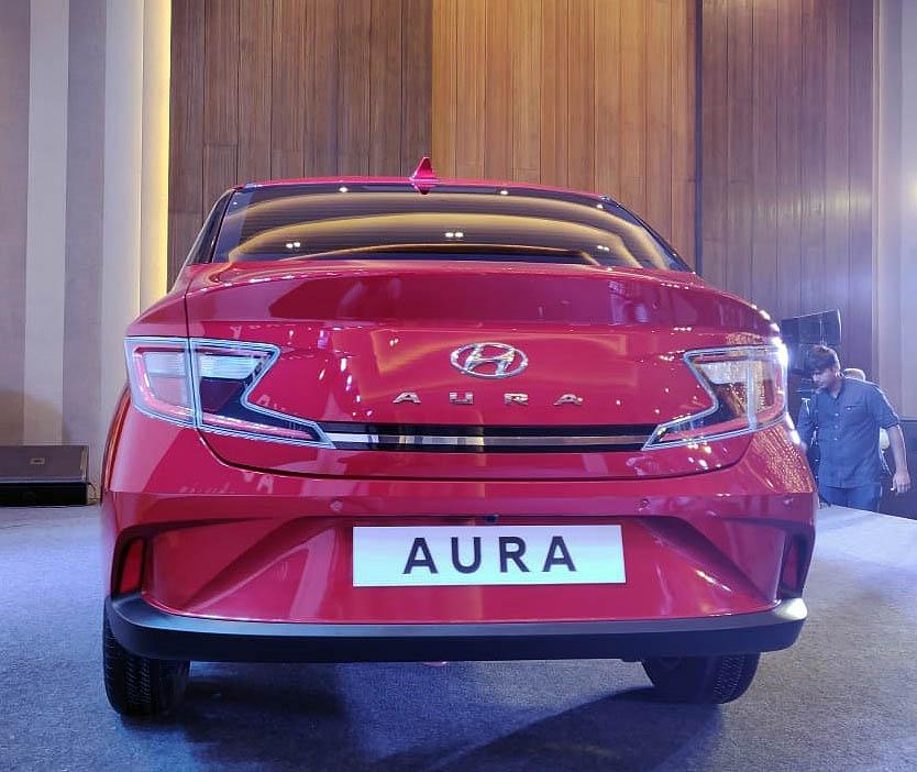 Hyundai's Newest Aura Subcompact Sedan Debuts in India 4