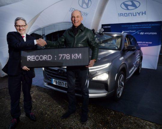 Hyundai Nexo FCV Sets Longest Distance Record 8