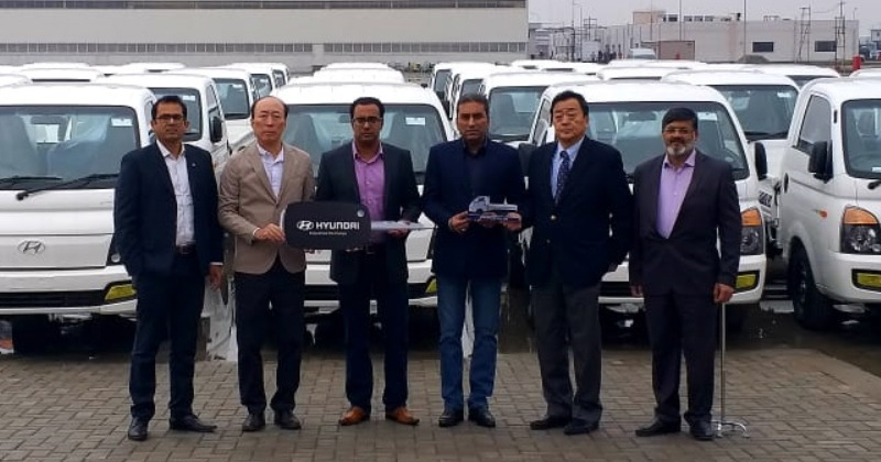Fleet Handing Over Ceremony- 45 Units of Hyundai Porter H-100 Pickup Delivered to a Local Distributor Company 2