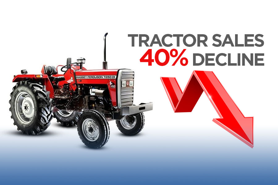 Tractor Sales Declined by 40% 8