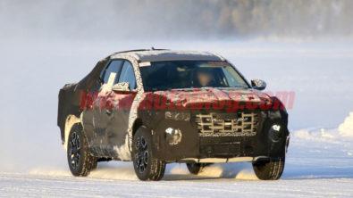 Hyundai Santa Cruz Pickup Caught Testing in Finland 1