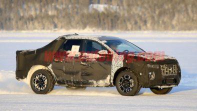 Hyundai Santa Cruz Pickup Caught Testing in Finland 2