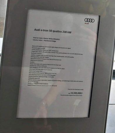 Audi Brings the E-tron Quattro Electric SUV to Pakistan 19