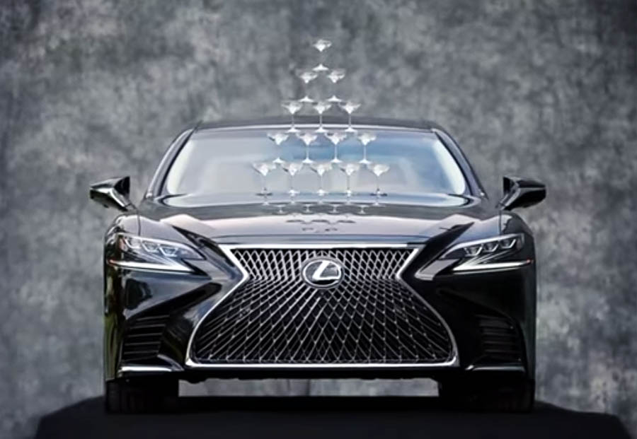 Lexus Recreates the Timeless 'Champagne Glass' Commercial for the New LS-500 2