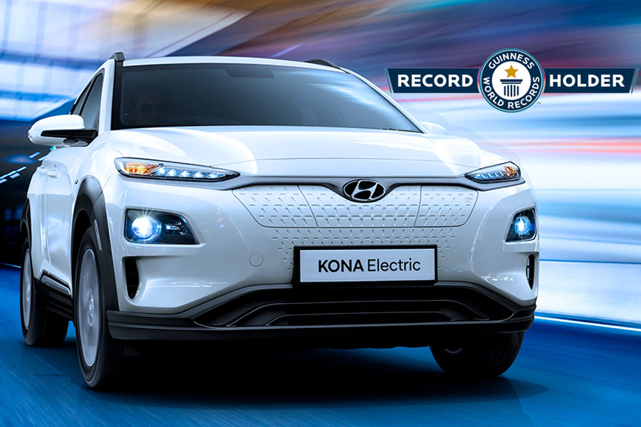 Hyundai Kona Electric Makes it to Guinness World Records 10