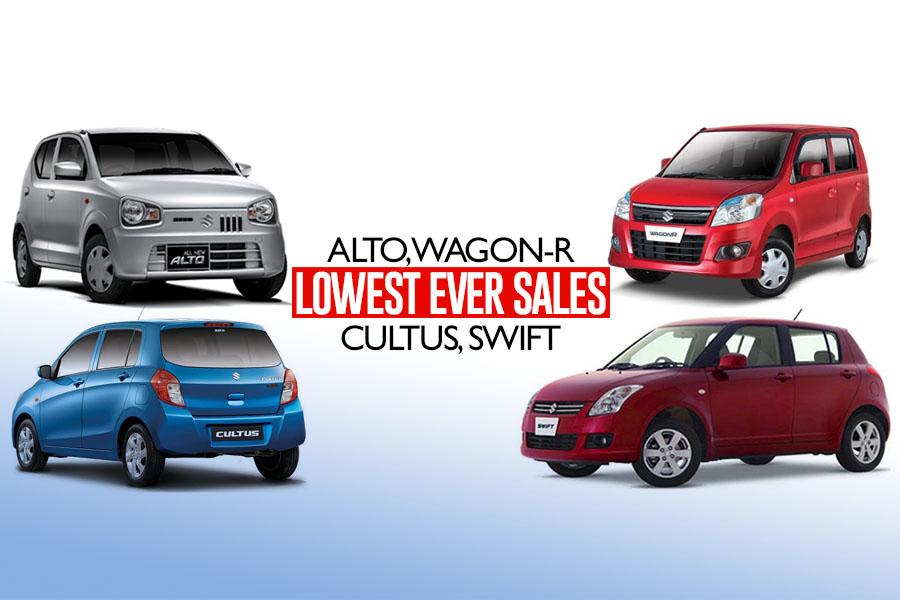 Suzuki Alto, Cultus, WagonR & Swift Records Lowest-Ever Sales 1
