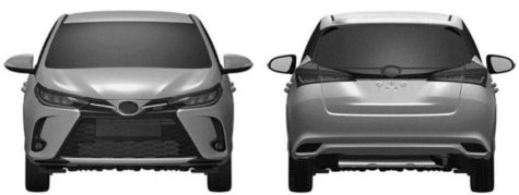 3rd Gen Toyota Yaris XP150 Facelift Leaked in Patent Images 3
