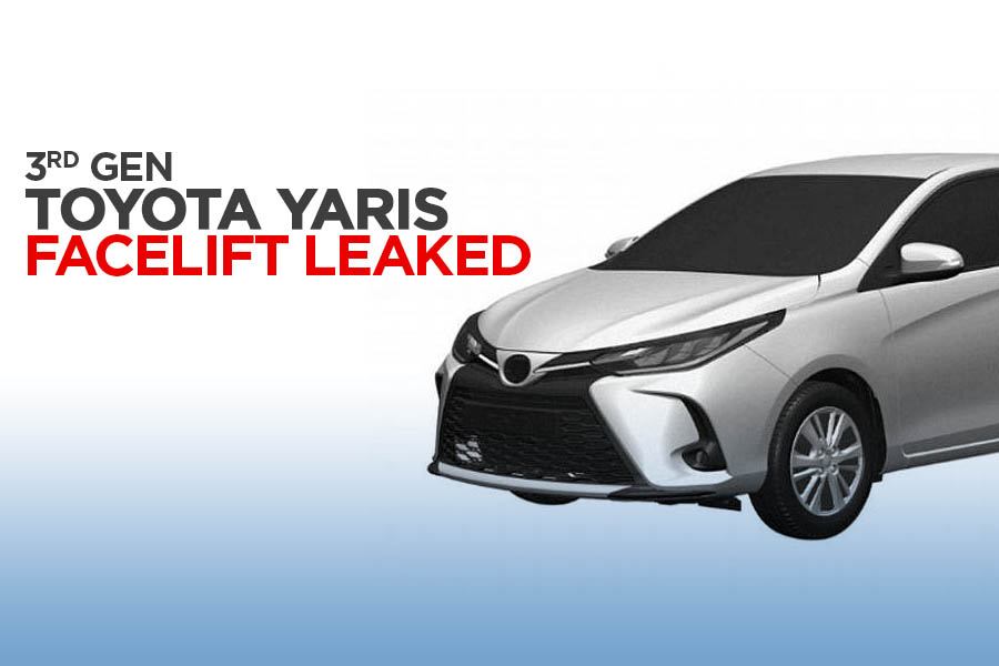 3rd Gen Toyota Yaris XP150 Facelift Leaked in Patent Images 5