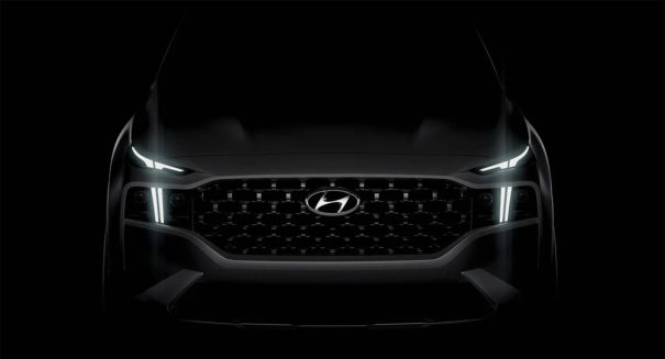New 2021 Hyundai Santa Fe Facelift Teased 1