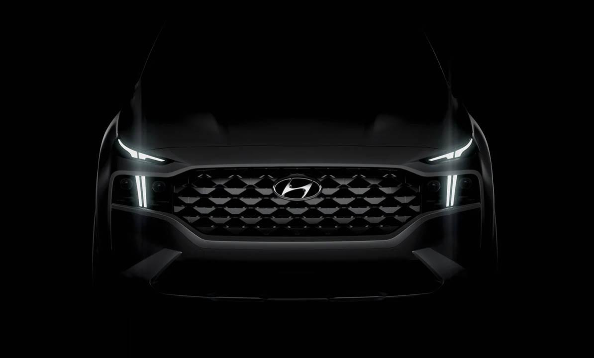 New 2021 Hyundai Santa Fe Facelift Teased 7