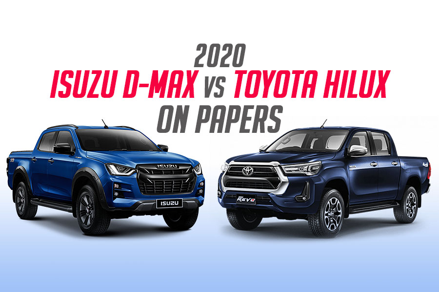 New Toyota Hilux vs Isuzu D-MAX on Papers 9