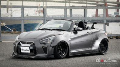 Daihatsu Copen Cosplays as Nissan GT-R 2