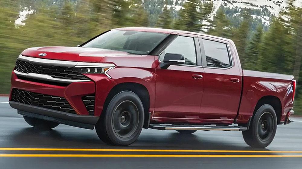 Renderings of New Kia Pickup Truck Surfaces the Internet 8