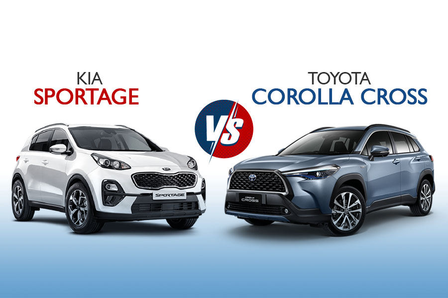 On Papers: Kia Sportage vs Toyota Corolla Cross 6