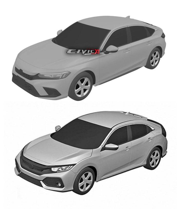 Next-Gen Honda Civic Hatchback Design Leaked In Trademark Filing 7