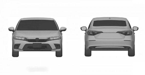 Next-Gen Honda Civic Sedan Leaked In Patent Images 5