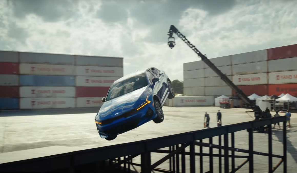 All New Kia K5 Performs Amazing Stunt in Latest TVC 1