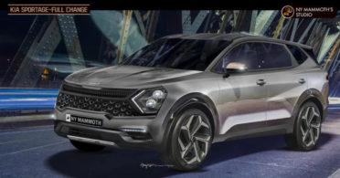 Speculative Renderings of Next Gen Kia Sportage 3
