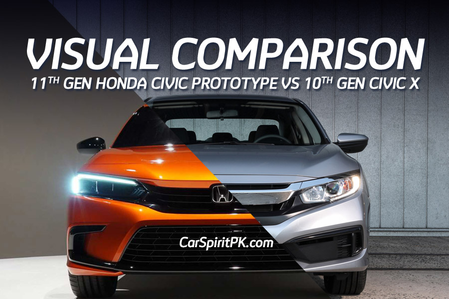 Visual Comparison: Honda Civic 10th Gen vs 11th Gen Prototype 2