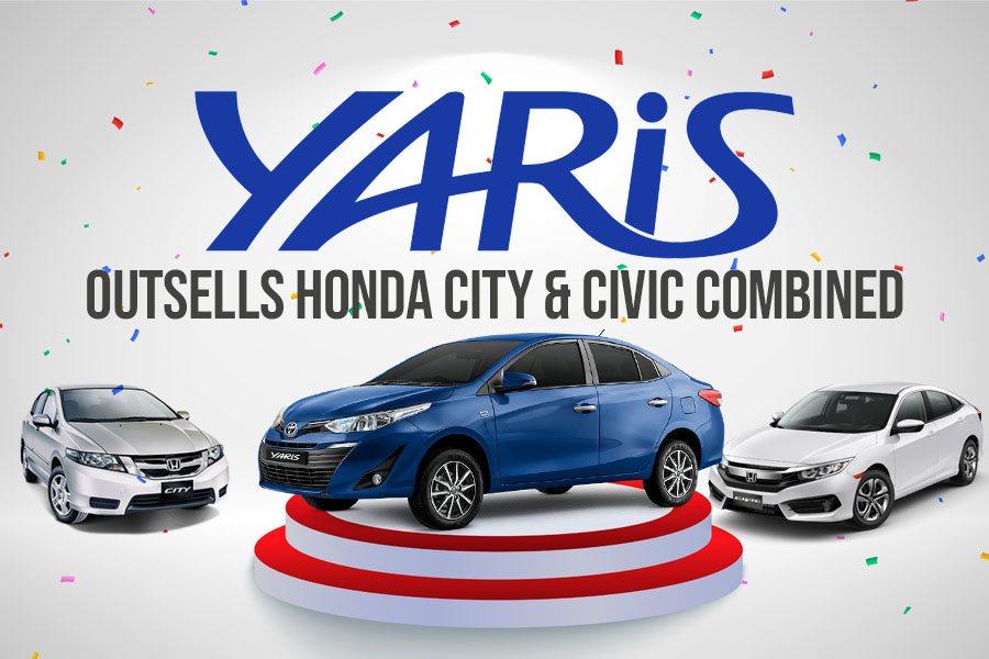 Toyota Yaris Outsells Honda City & Civic Combined 5
