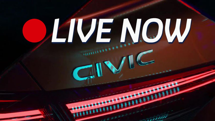 Happening Now: 11th Gen Honda Civic Prototype Unveil LIVE 2