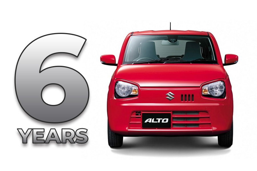 8th gen Suzuki Alto Completes its 6 years 5