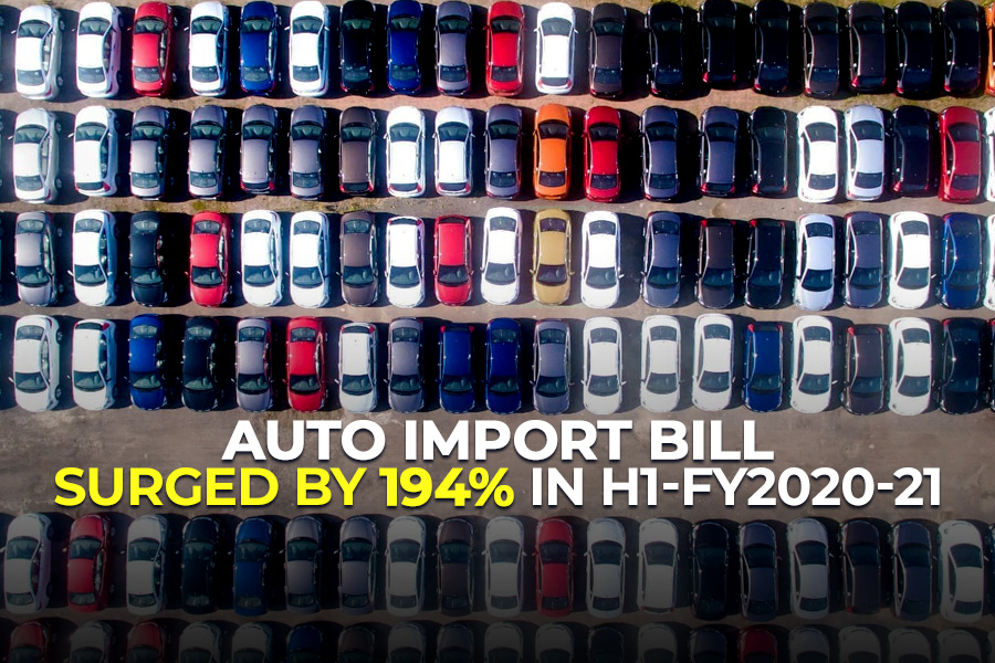 Auto Import Bill Surged by 194% in H1-FY2020-21 7