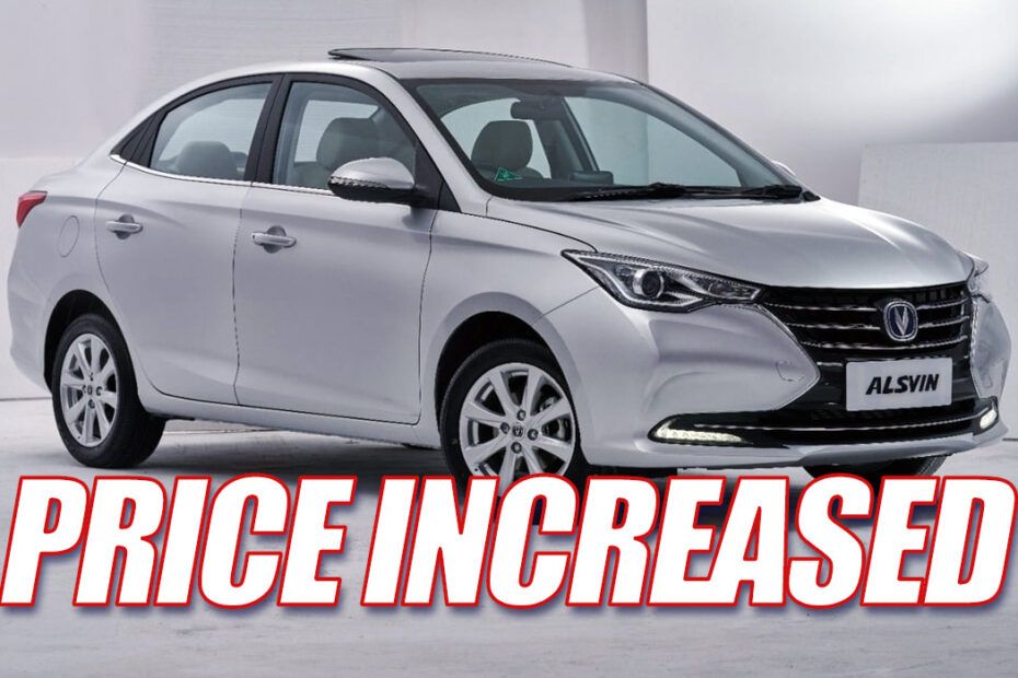 Changan Alsvin Prices Increased 10