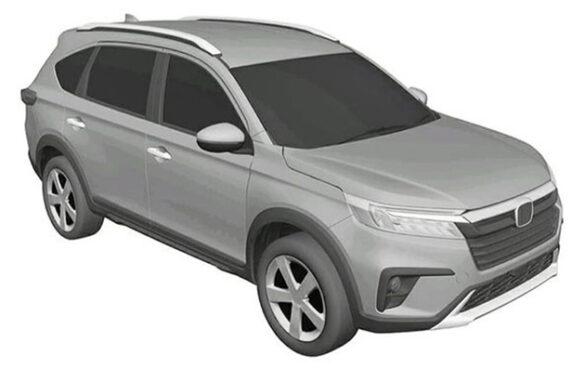Honda N7X (Next Gen BR-V) Patent Drawings Leaked 7