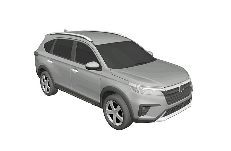 2022 Production Honda N7X SUV patent images rumoured new BR V feat 1