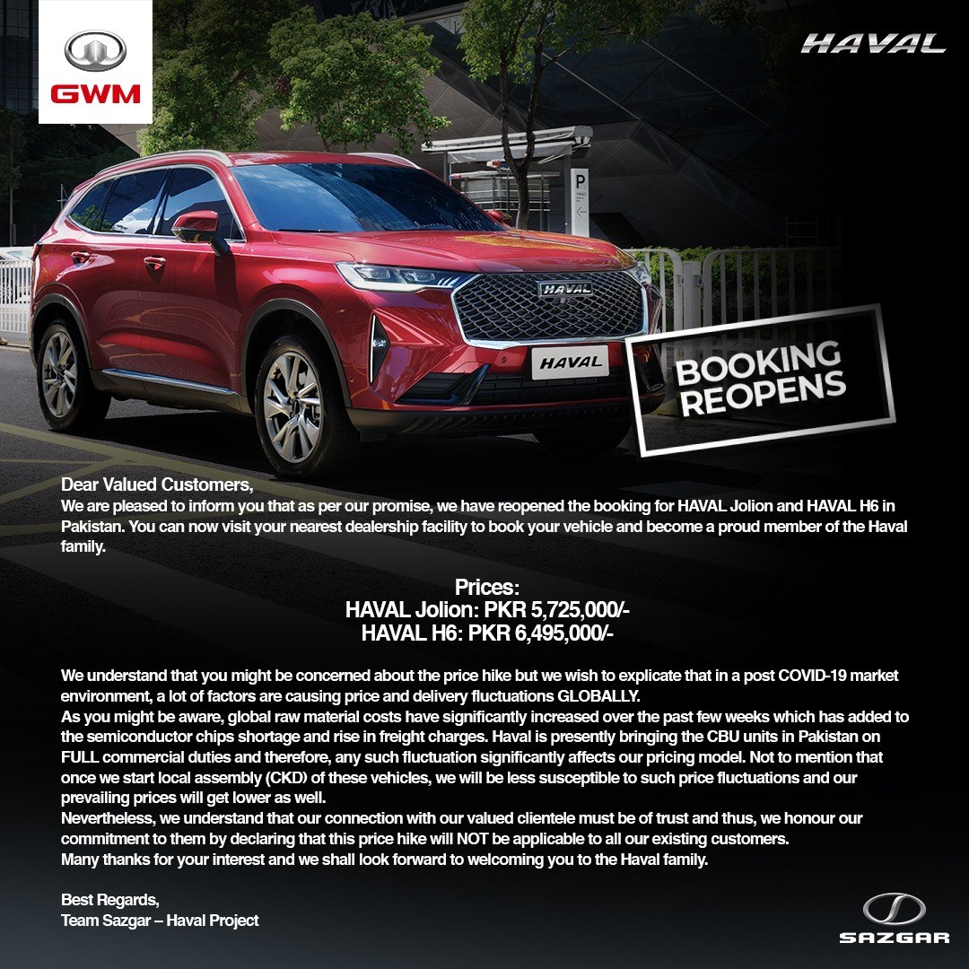 Haval reopens