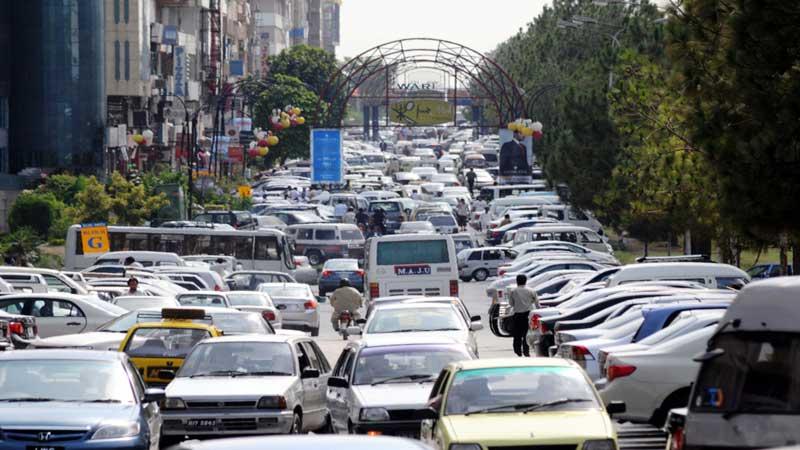 Islamabad traffic Qazi Usman