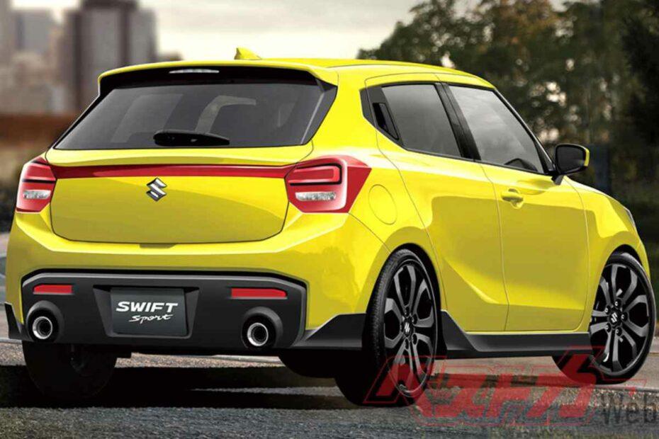 Next Gen Suzuki Swift Sport Render Rear