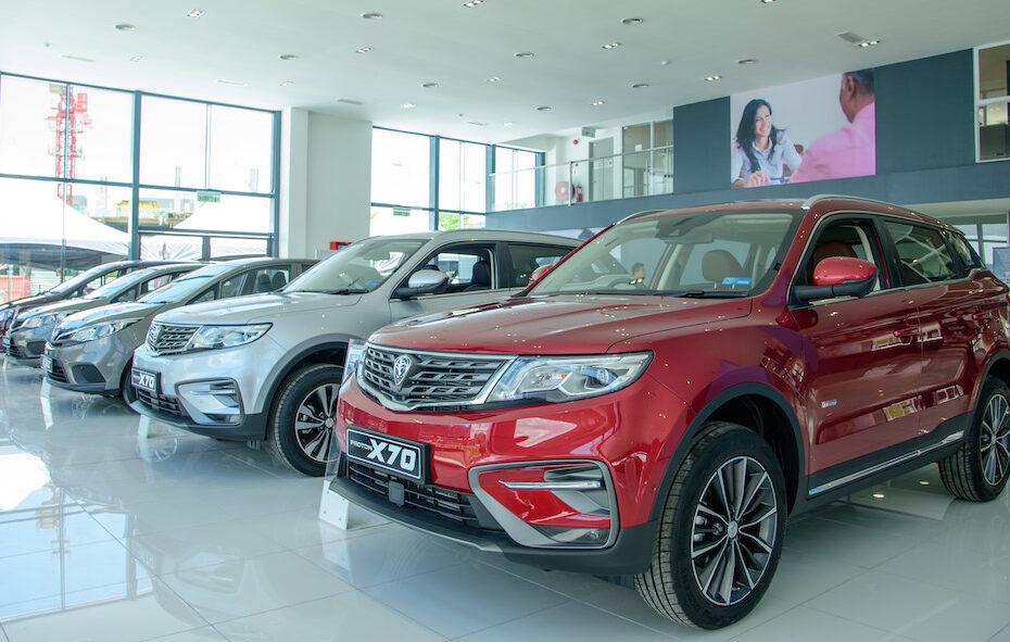 Proton cars display showroom