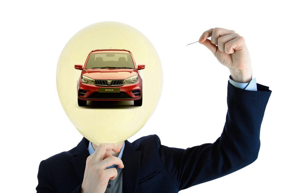 The Bubble Launch of Proton Saga 1