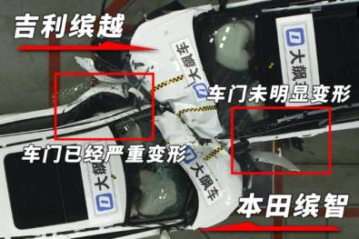 Honda HR-V (Vezel) vs Geely BinYue Crash Test 4