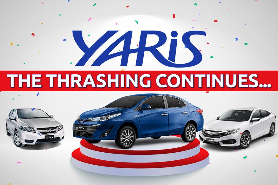 Toyota Yaris Thrashes Honda City & Civic Combined 2