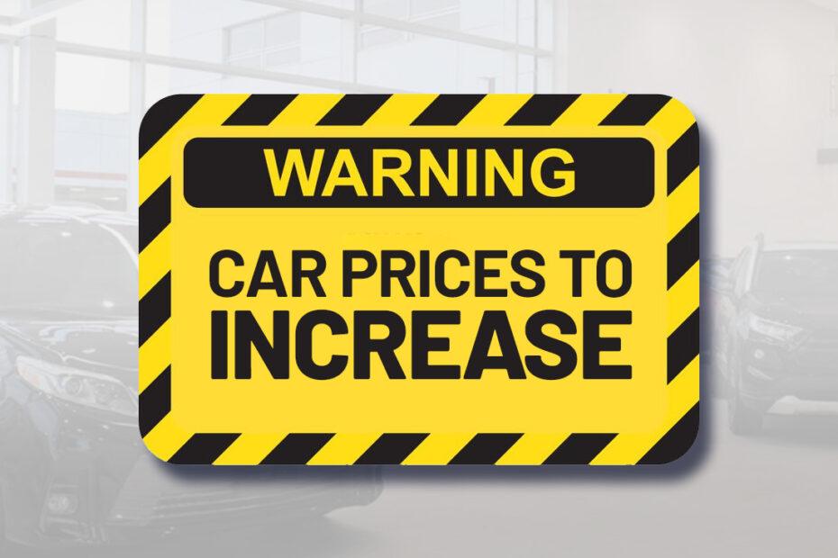 car price increase