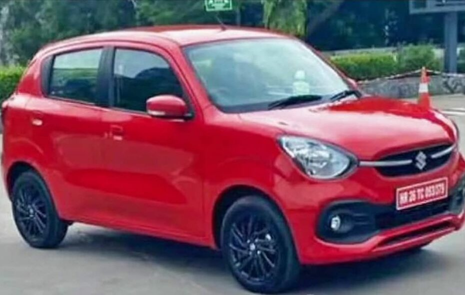 new maruti celerio spied front left red b5b1