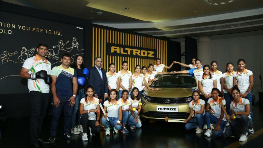 tata altroz indian athletes tokyo olympics a490
